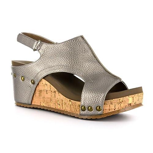 11ce8d766e823 Corkys Women's London Wedge Sandals