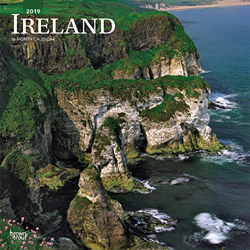 Ireland 2019 12 x 12 Inch Monthly Square Wall Calendar, Scenic Travel Dublin Irish
