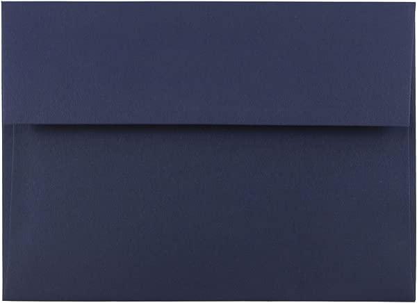 JAM PAPER A7 Premium Invitation Envelopes 5 1 4 X 7 1 4 Navy Blue 100 Pack