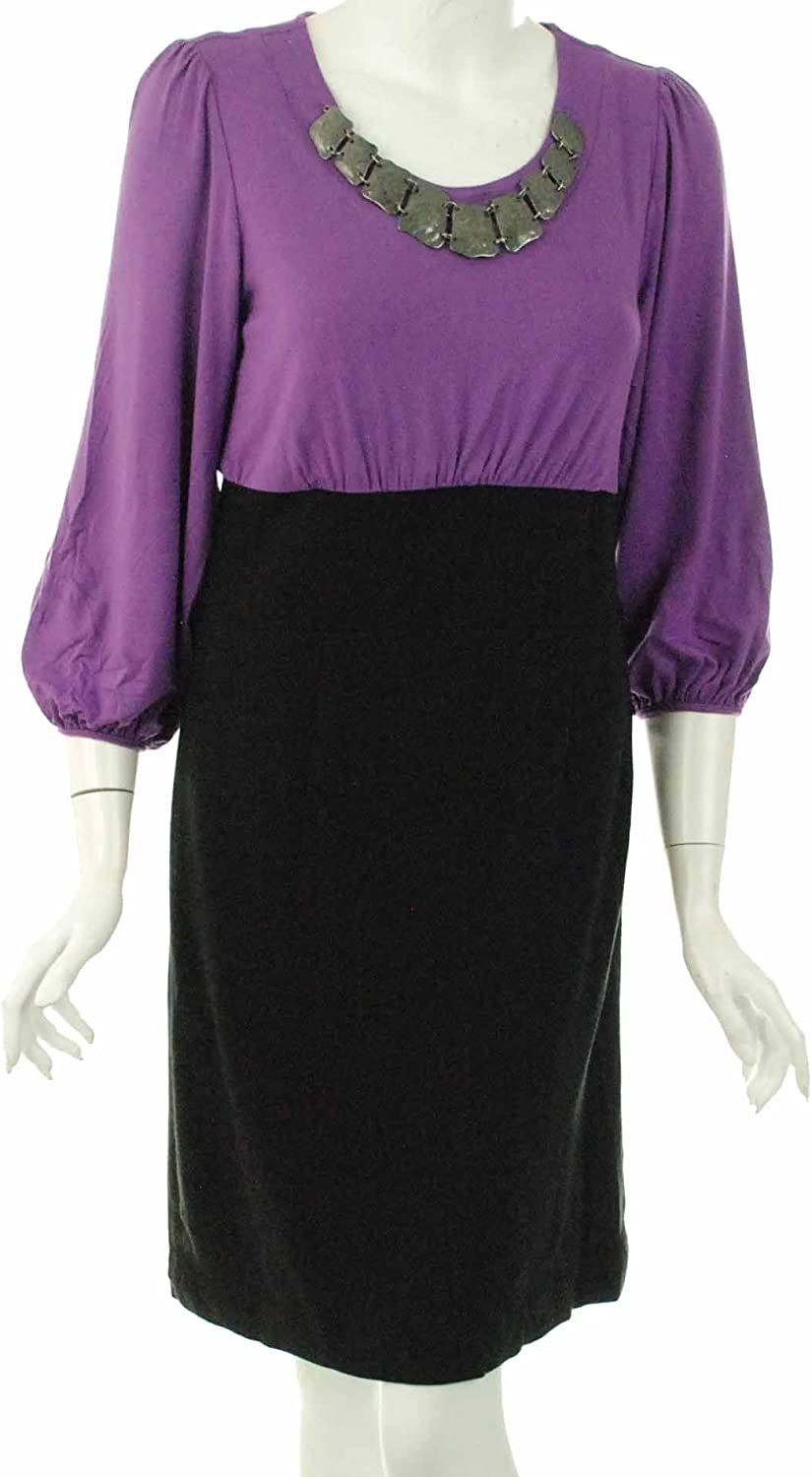 Alfani Women's Grape & Black Dress Size 6