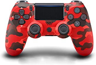 $49 » Xin Hai Yuan Wireless Controller for PS4, Game Controller Joystick for Playstation 4 with USB Cable, Red Camouflage,Red