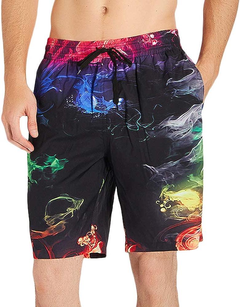 NEWISTAR Mens Boys Teens Swim Trunks 3D Printed Quick Dry Beach Shorts Board Shorts Casual Shorts Water Shorts Mesh Lining Full Size