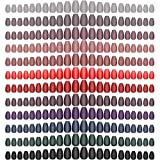 288 Pieces Solid Color Matte Fake Nails Tips Colorful Ballerina False Nails Artificial Full cover Coffin Press on Nails for Nail Art DIY Decortion Women Girls(Dark Colors)
