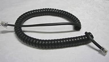 Lot of 10 Dark Gray (Black) 9' Ft Handset Cords for Polycom SoundPoint IP Phone 301 321 330 331 335 500 501 450 550 560 601 650 670 2101 2200 2201 Series VoIP Tail/Leader (10-Pack) by DIY-BizPhones