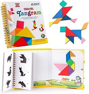 Coogam  Viajes Tangram Puzzle con 3 Set de