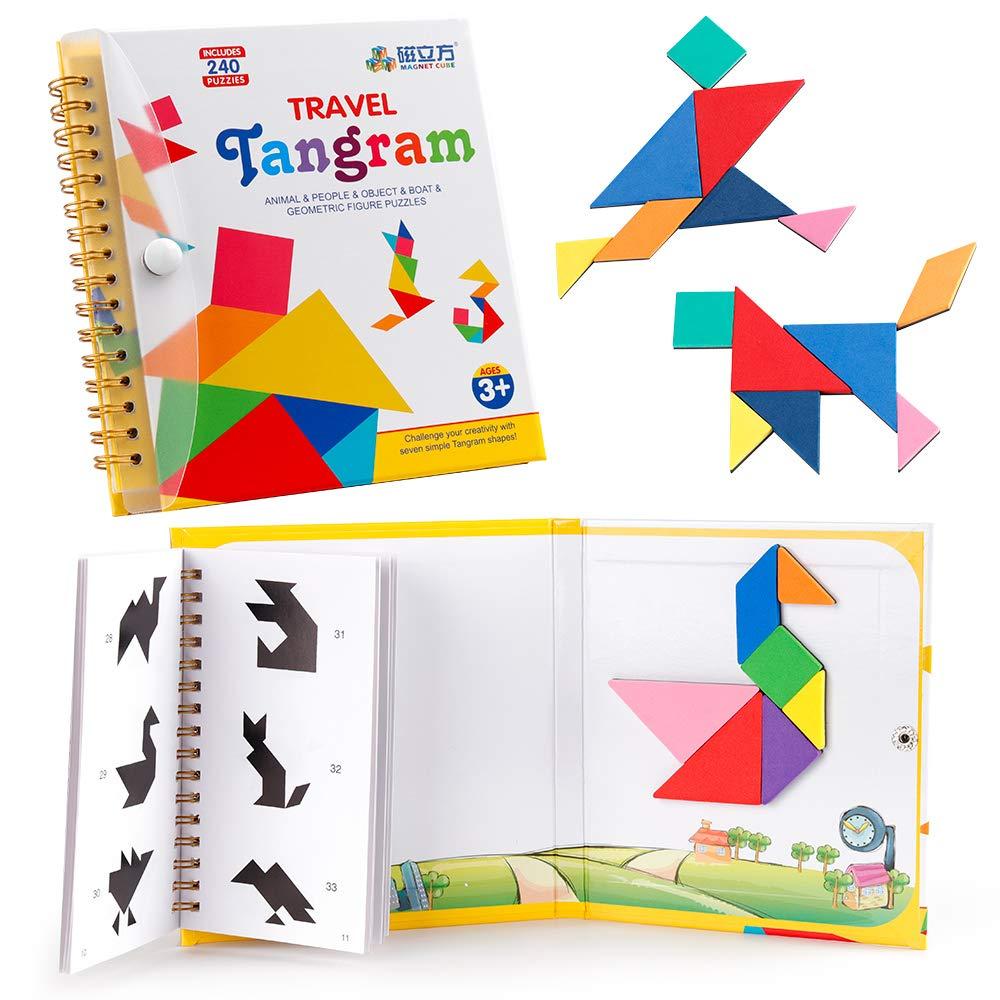 Coogam Travel Tangram Puzzle Magnetic