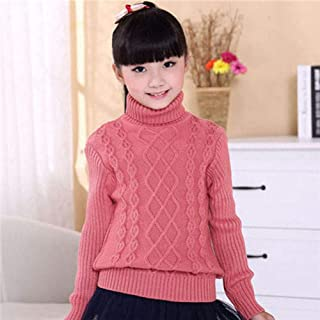 Children's Sweater Autumn Winter Kids Knitted Turtleneck Pullover Sweater For Boys Girls-Skin_Red-2_5