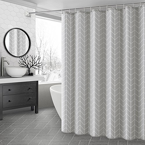 Ufaitheart 54 by 72-Inch Geometric Shower Curtain Stall Size...