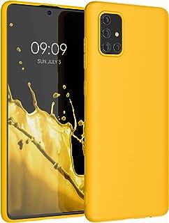 kwmobile telefoonhoesje compatibel met Samsung Galaxy A71 - Hoesje voor smartphone - Back cover in honinggeel