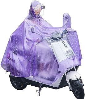 RYY Raincoats Raincoat,Unisex Rain Suit, Cycling Rain Poncho Reusable Motorcycle Scooter Reflective Waterproof Raincoat (C...