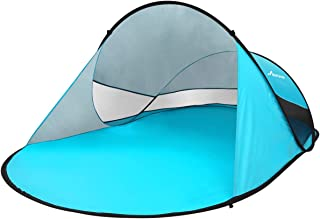 MOVTOTOP UPF 50+ Easy Pop Up Beach Tent,【2019 Newest】 3-4 Person Sun Shelter, Portable Instant Beach Shade UV Protection with Carry Bag for Family Outdoor Activities