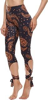 COOleggings Womens Digital Print High Waisted Workout Capri Leggings Tights