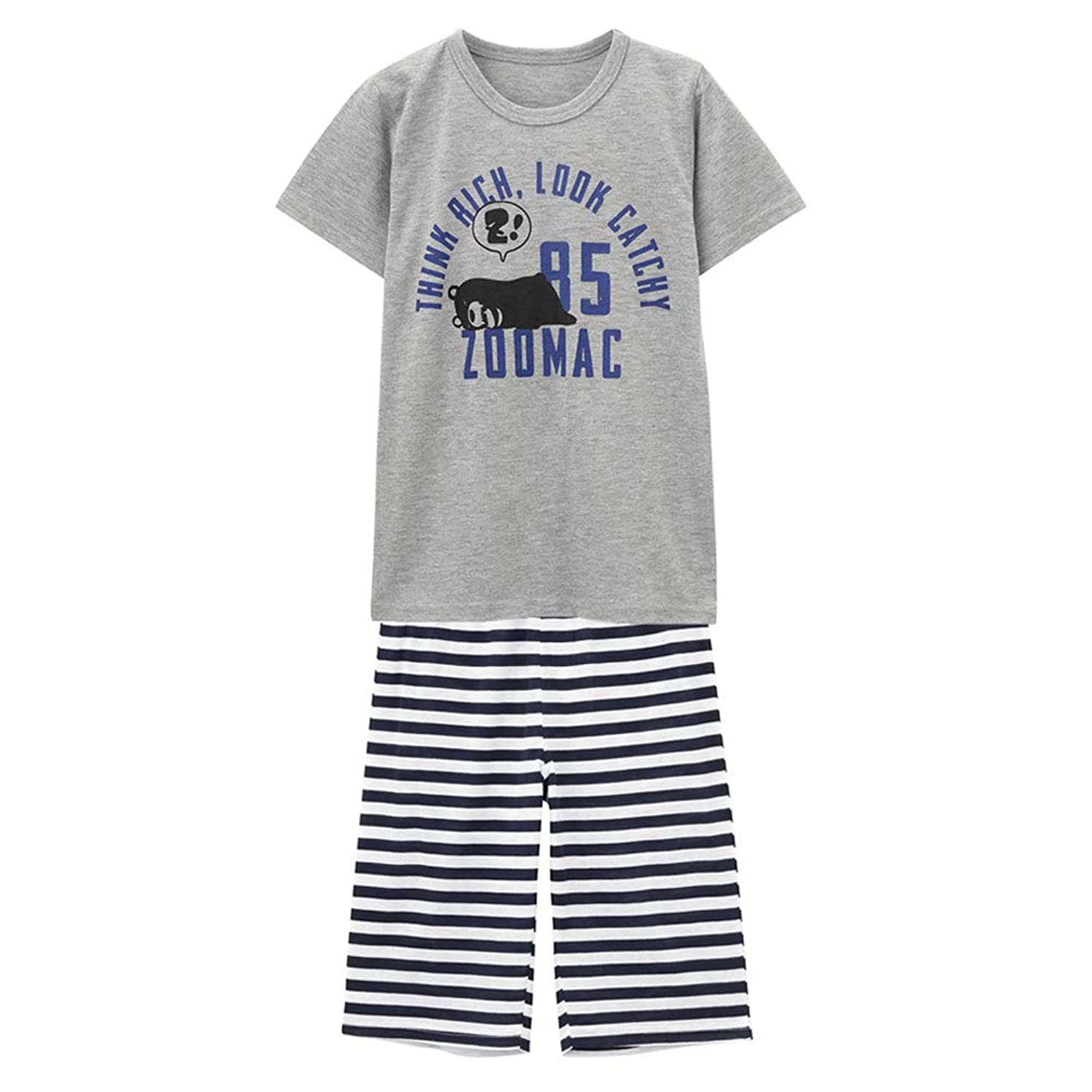 使用法レタッチジャンクションZOOMAC(ズーマック) ボーイズ Tシャツルームセット 子ども 男の子 ルームウェア パジャマ MH/ZM755B インナーレッグキッズ