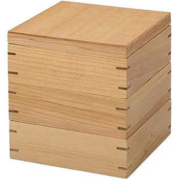 ナガオ 木の器 三段 重箱 木製 JH001W