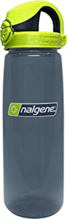 Nalgene On The Fly Water Bottle (Charcoal Bottle with Charcoal/Lime Cap)