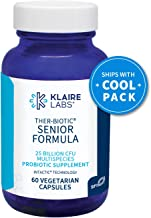 Klaire Labs Ther-Biotic Senior Formula Probiotic - Targeted Hypoallergenic Probiotic for Adults 60+, 25 Billion CFU with Inulin for Digestive & Immune Support (60 Capsules)