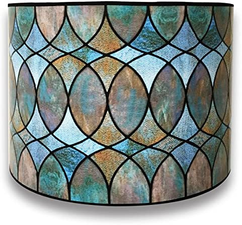 Royal Designs Modern Trendy Decorative Handmade Lamp Shade Made in USA Cool Hues Water Color product image
