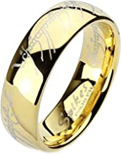 1000 Jewels Eregion: Replica The One Ring Hobbit Lord of, Comfort Fit Ring 316 Steel, 3259