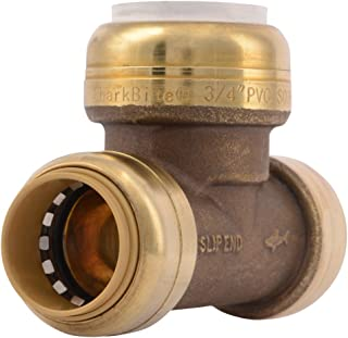 SharkBite PVC Fitting UIP371A 3/4 inch CTS X 3/4 inch CTS X 3/4 inch PVC, PVC Connector to Copper, PEX, CPVC, HDPE or PE-RT for Potable Water