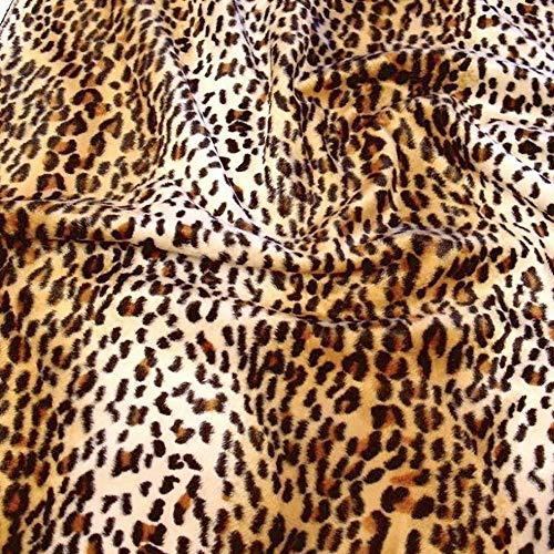 TOLKO Kurzhaar Kunstfell als Meterware - tolle Tierfell-Imitat Stoffe (Gepard)