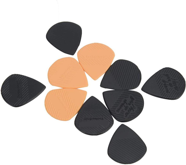 Jeankak Púa de púa de Guitarra de 0,96 MM, púa de Guitarra de plástico de 10 Piezas, para Barrer Estilo de Dedos, Varias Guitarras Populares