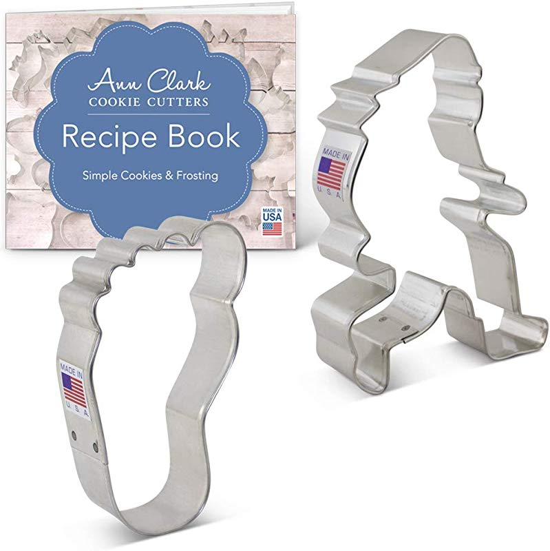 Ann Clark Cookie Cutters 2 Piece Bigfoot Sasquatch Cookie Cutter Set With Recipe Booklet Bigfoot Foot