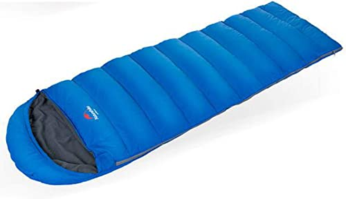LNYF-OV Sac de Couchage en Duvet Camping en Plein air en Hiver épaissir Le Canard Chaud Sac de Couchage Ultra léger, Bleu, Taille  220  75 cm