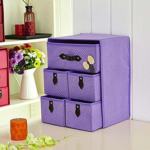 Boîte de rangement / Type de tiroir / Sous-vêtements / Chaussettes / Soutien-gorge / Boîte de finition / Bureau pliable / Boîte de rangement - Violet