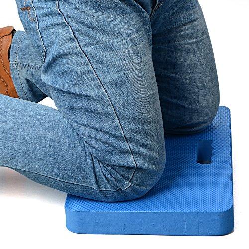 SUREH Almohadilla de rodillas de EVA portátil impermeable para jardín, cojín protector para rodillas con asa para el trabajo, baño, yoga