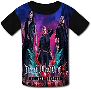 3D Printing Fashion Devil-May-Cry 5 Polyester Short Sleeve Tee Shirts for Children