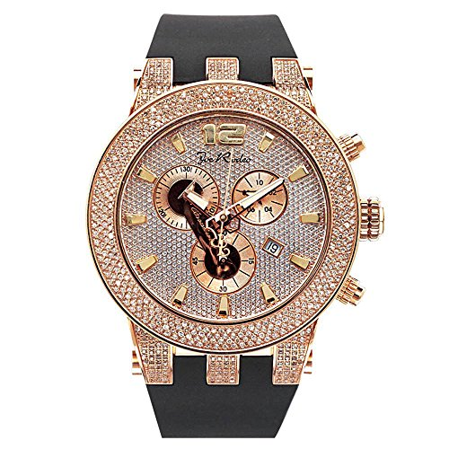 Joe Rodeo Diamond Reloj de los Hombres–Broadway Oro Rosa 5Quilates