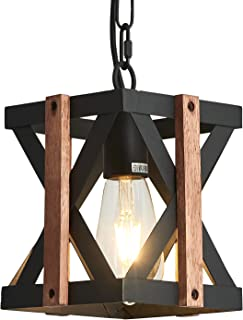 Farmhouse Chandeliers,1-Light Hanging Lamp,Rustic...