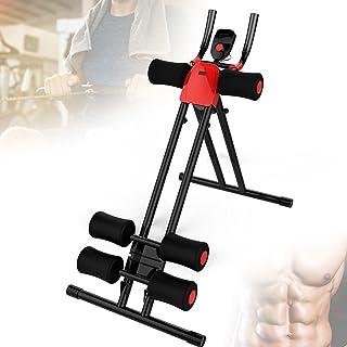 Fällbar Core Ab Crunch Coaster Trainer, Multifunktion Fitness Ab Machine med 4 nivåer Justerbart motstånd, LCD-skärm för k...