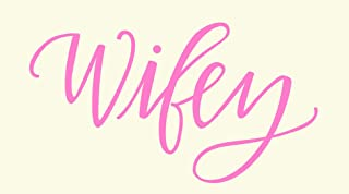 wifey iron on decal