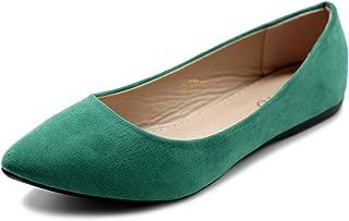 Women's Ballet Comfort Light Faux Suede Multi Color Shoe Flat