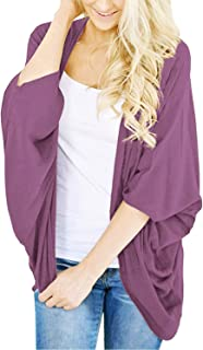 BB&KK Cardigan for Women Solid Colors Long Sleeve Open Front Cover Ups