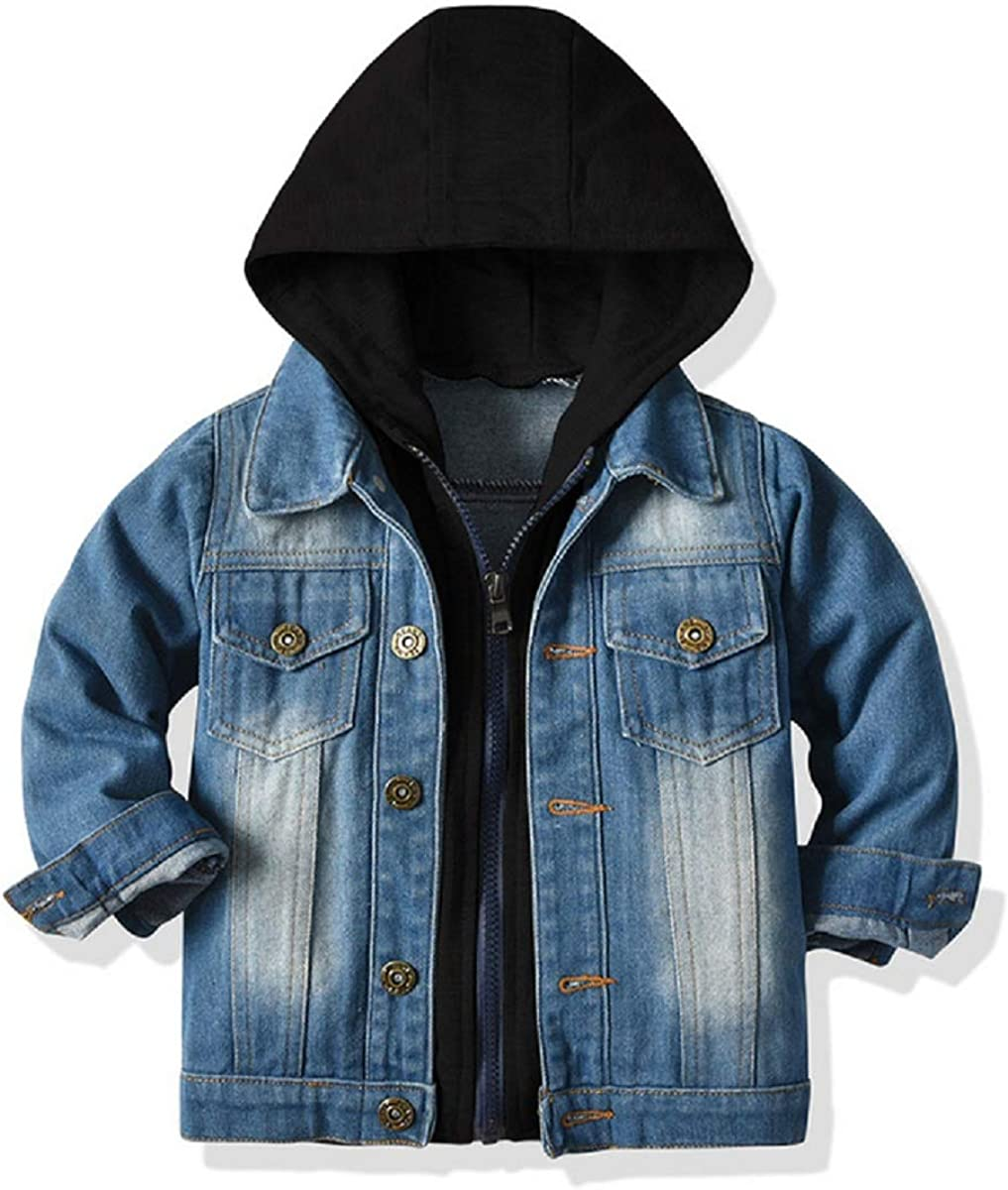 Baby Boys Girls Denim Ranking TOP1 Jacket Kids Toddler Jack Down Jeans Button excellence