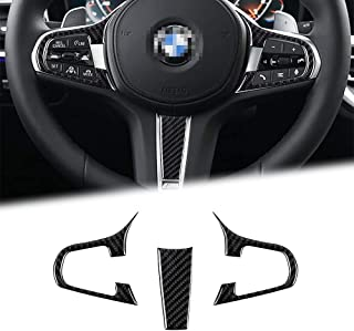 BLAKAYA Compatible with Carbon Fiber Steering Wheel Buttons Frame Interior Decorative Stickers Cover Trim Standard Version...