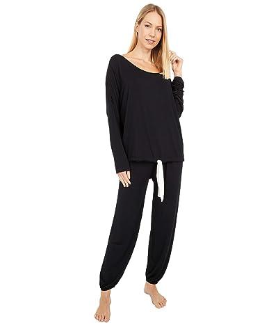 Eberjey Gisele Slouchy Pajama Set (Black/Ivory/Black/Ivory) Women