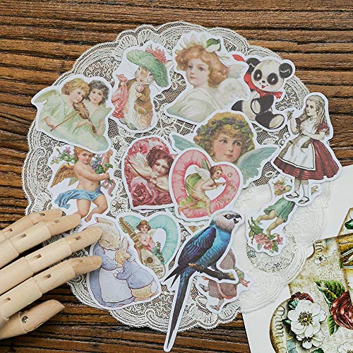 Lot Kawaii Stationery Stickers Vintage Alice Dream Diary Planner Junk Journal Decorative Scrapbooking Craft Stickers 50 Pcs