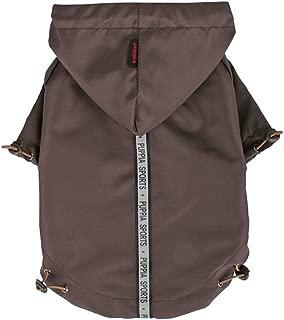 Puppia Authentic Base Jumper Raincoat, XX-Large, Brown