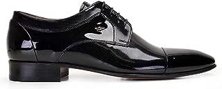 6382-350 PIYU01 -Rugan Siyah 40 Nevzat Onay%100 Deri Siyah Klasik Bağcıklı Kösele Erkek Ayakkabı