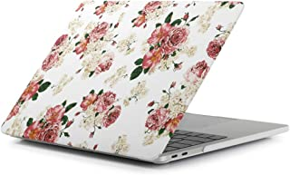 Miss flora MAC accessories .Laurel Flower Pattern Laptop Water Decals PC Protective Case for MacBook Pro 15.4 inch A1990 (2018)