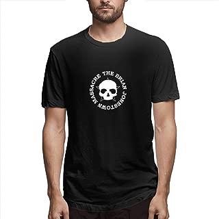 FankTasf The Brian Jonestown Massacre Men's Fashion Casual Round Neck Print Short-Sleeved T-Shirt