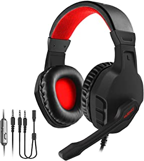 NUBWO Gaming Headset, Xbox One PS4 Headset, Noise Cancelling Over Ear Gaming Headphone Mic, Comfort Earmuffs, Lightweight,...