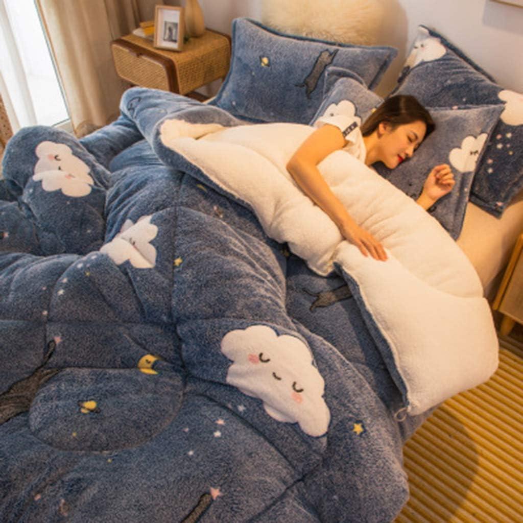 GYRZFSL Snow Fleece Quilt Quick Qu Boston Mall Warming Fresno Mall Effect Sleep Improves