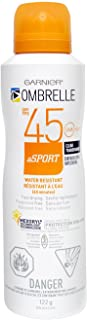 OMBRELLE SPORT, Continous Spray SPF 45 Clear/transparent ,140 Ml / 4.7 oz