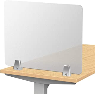 "Owfeel Frosted Desk Divider Office Partition Privacy Desk Panel with 2pcs Desk Partition Clip for Student Call Centers/Offices/braries/Classrooms/Library Acrylic Privacy Board (20"" L×16"" W)"