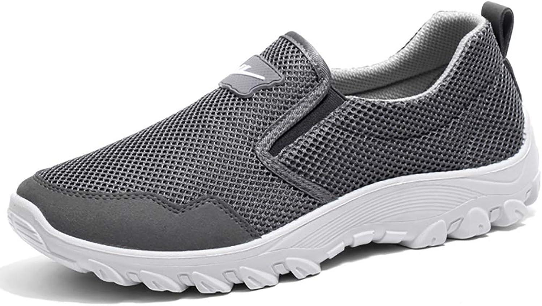 GAIQIN Wanderschuhe Atmungsaktiv und Deodorant Mesh-Schuhe für Herren Faule Freizeitschuhe Mesh-Schuhe Herrenschuhe Weiche Unterseite