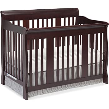 Storkcraft Tuscany 4-in-1 Convertible Crib, Cherry Easily Converts to Toddler Bed, Day Bed or Full Bed, 3 Position Adjustable Height Mattress